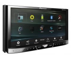 AVH_X5650BT מסך 7 אינצ' עם MIXTRAX Bluetooth שליטה על iPod/iPhone כניסת USB ומצב AppRadio